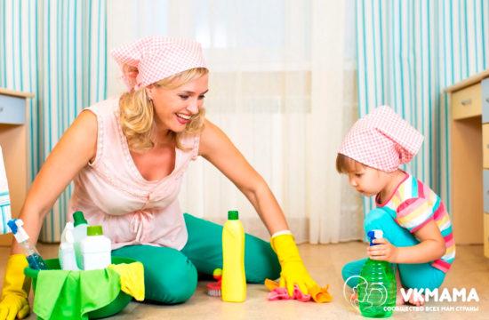 Как научить малыша помогать по дому?